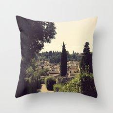 Boboli Gardens Throw Pillow