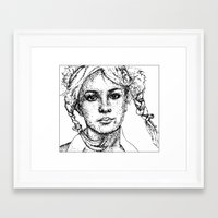 britney spears Framed Art Prints featuring Britney Spears by Samantha Kardos