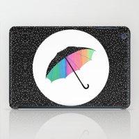 umbrella iPad Cases featuring umbrella by Luna Portnoi
