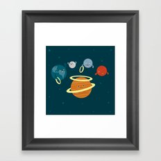Saturn Ring Toss Framed Art Print