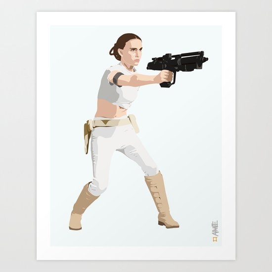 Padme of Star Wars Art Print