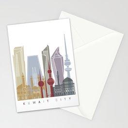 Kuwait City skyline V2 poster Stationery Cards