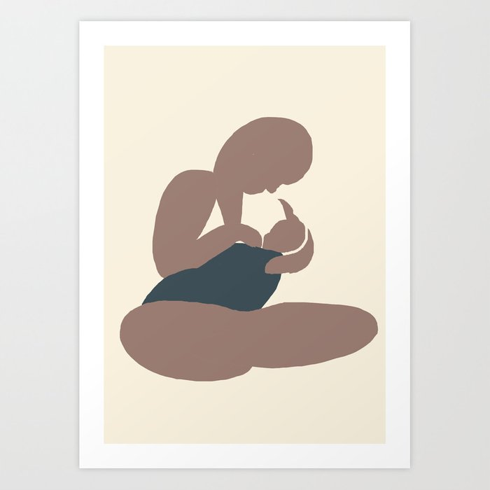 Mother and Child IV (After Matisse) Art Print