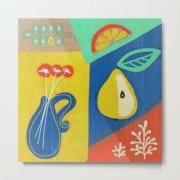 Botanical slice of color 02 Metal Print
