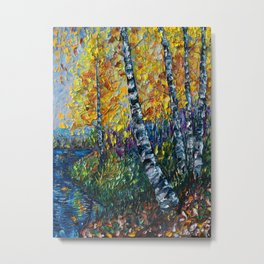 Colorado Landscape Oil Painting with a Palette Knife Metal Print