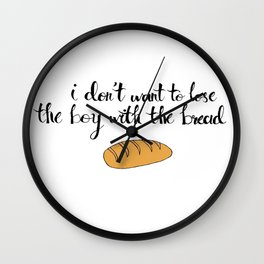 Peeta The Bread Boy Wall Clock