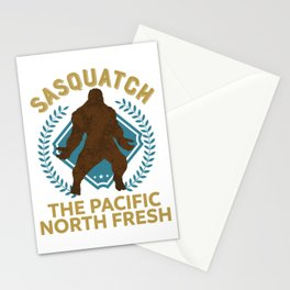 Sasquatch The Pacific North Fresh PNW Bigfoot design Stationery Cards