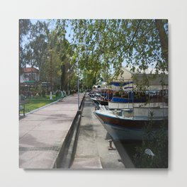Tour Boats Lining Dalyan River Metal Print