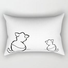 Teo the cat Rectangular Pillow