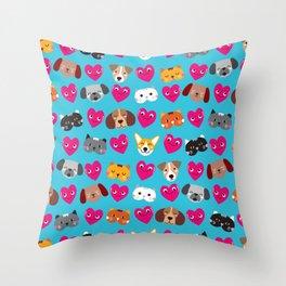 Cat Loves Dog Loves Cat Throw Pillow