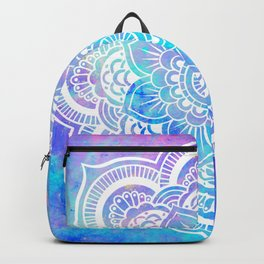 Mandala Pink Lavender Aqua Galaxy Space Backpack