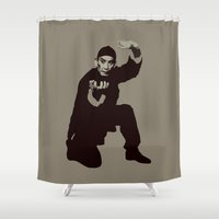 budi satria kwan Shower Curtains featuring Kwan Tak-hing as Wong Fei-hung by Vector Vectoria