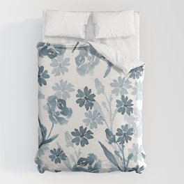 Paint it Blue Duvet Cover