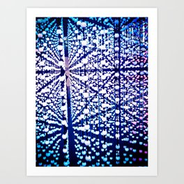 The madness of blue marbles Art Print