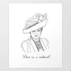 Dowager Countess of Grantham Art Print