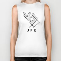 jfk Biker Tanks featuring JFK Airport Diagram by vidaloft