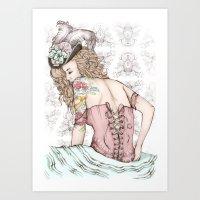 marie antoinette Art Prints featuring Marie Antoinette by Frances Louw