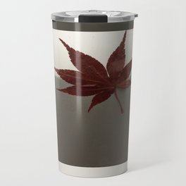 Last Leaf of Autumn Travel Mug