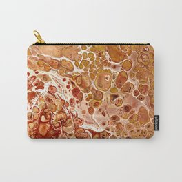 Penny Saved Red Fluid Acrylic Abstract Carry-All Pouch