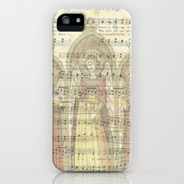 Christmas Card Angels Singing iPhone Case