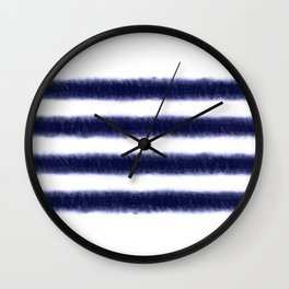 Indigo Stripes Wall Clock