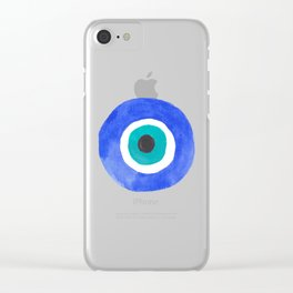 Evil Eye III Clear iPhone Case