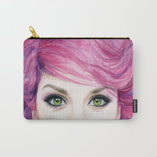 Pink Hair Girl Carry-All Pouch