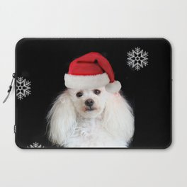 Christmas poodle dog Laptop Sleeve