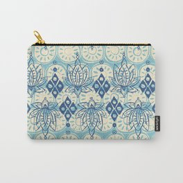 lotus diamond blue Carry-All Pouch