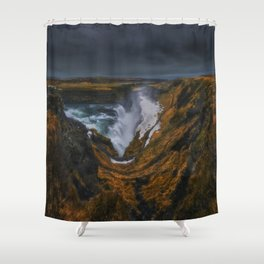 The Canyon of Olfusa Shower Curtain