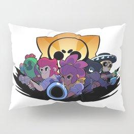Spike, Colt, Shelly, Crow and Poco design | Brawl Stars Pillow Sham