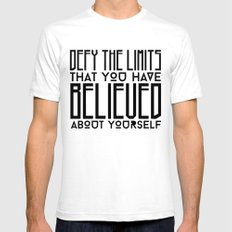 Defy Your Own Limits White SMALL Mens Fitted Tee