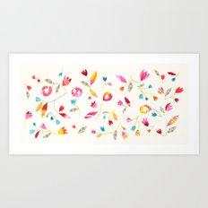 Flower Net Art Print