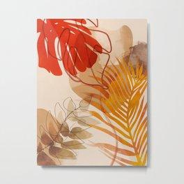 tropical leaves fall II Metal Print