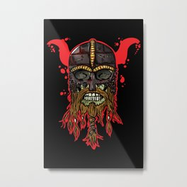 Viking skull  Metal Print