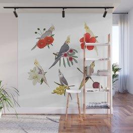 Cockatiels Galore Wall Mural