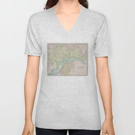 Vintage Map of Richmond VA (1901) Unisex V-Neck