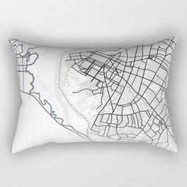 Asuncion Light City Map Rectangular Pillow