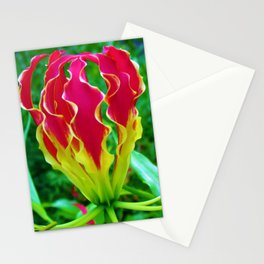 Vivid Gloriosa Lily Stationery Cards
