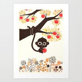 Ape-ple Art Print
