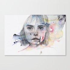 little girl's shadow Canvas Print