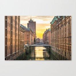 The Speicherstadt (Hamburg, Germany) Canvas Print
