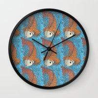 koi Wall Clocks featuring KOI by Matthew Taylor Wilson