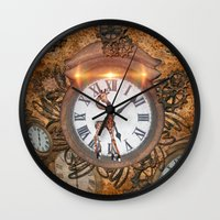 steampunk Wall Clocks featuring Steampunk by nicky2342