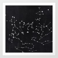 constellation Art Prints featuring Constellation by Mille Dørge