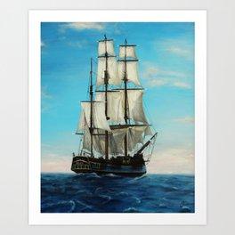 Bounty Ship Art Print