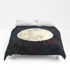 The Flower of Life Moon 2 Comforters