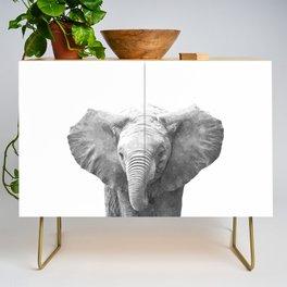 Black and White Baby Elephant Credenza
