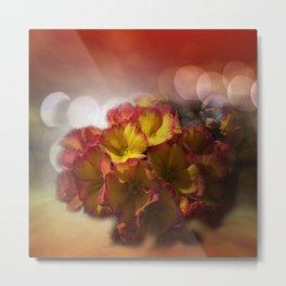 primroses with bokeh -2- Metal Print
