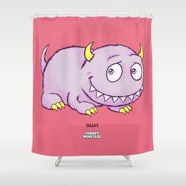 Blobhorn Shower Curtain